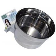 Lixit Corp - Howard Pet - Stainless Steel Cage Crock Bowl With Bracket - 40 Oz