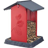 North States Industries - Pinecone Birdfeeder - Red - 8X8X11 Inch