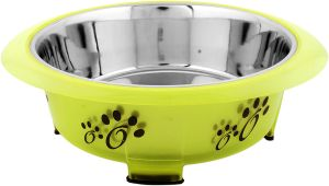Color Splash - Designer Oval Fusion Bowl - Large - Green - for Pet/Dog - 54 Oz - 6 Cups