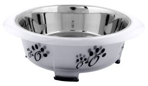 Color Splash - Designer Oval Fusion Bowl - Medium - Gray - for Dog/Cat - 28 Oz - 3.5 Cups