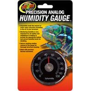 Zoo Med - Precision Analog Reptile Humidity Gauge - Black N/A