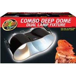 Zoo Med - Combo Deep Dome Dual Lamp Fixture