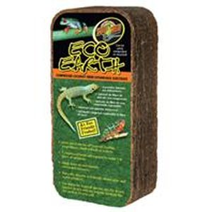 Zoo Med - Eco Earth Compressed Coconut Fiber Substrate -  Brown 7 - 8 Liters