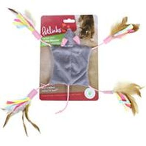 Worldwise - Cutie Mouse Feathered Toy