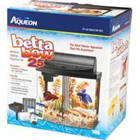 All Glass Aquarium - Led Betta Bow Desktop Aquarium Kit - Black - 2.5 Gallon