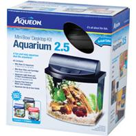 All Glass Aquarium - Aqueon Led Minibow Aquarium Kit - Black - 2.5 Gallon