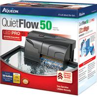 All Glass Aquarium - Aqueon Quietflow 50 Filter - 45-50 Gallon / 250 GPH