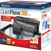 All Glass Aquarium - Aqueon Quietflow 30 Filter - Black 30 - 45 Gallon / 200 GPH