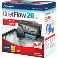 All Glass Aquarium - Aqueon Quietflow 20 Filter - Black 20 - 30 Gallon / 125 GPH