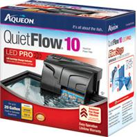 All Glass Aquarium - Aqueon Quietflow 10 Filter - Black 10 - 20 Gallon / 100 GPH