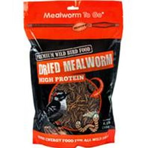 Unipet USA - Mealworm To Go Dried Mealworm Wild Bird Food - 1.1 Lb