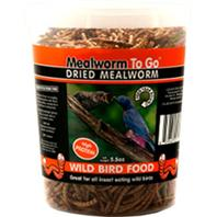 Unipet USA - Mealworm To Go Dried Mealworm Wild Bird Food - 5.5 oz