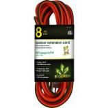Gogreen Power - Outdoor Extension Cord 16/3 Gauge - Orange - 8 Foot