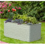 Panacea  - Raised Galvanized Trough Planter-Galvanized-40X22X18