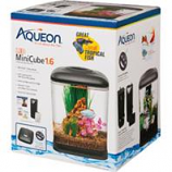 Aqueon Products - Glass-Led Mini Cube Aquarium Kit-Black-1.6 Gallon