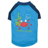 Zack & Zoey - Under The Sea Crab Tee - Small - Blue