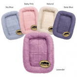 Slumber Pet -  Sherpa Crate Bed - Large - Lavender