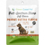 Green Coast Pet - Trial-Size Full-Spectrum Soft Chews For Dogs - Peanut Butter - 3 Ct