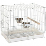 Prevue Pet Products - Bird Travel Cage - White - 20X12.5X15.5 In