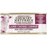 Grandma Mae's Country Naturals - Country Naturals Grain Free Cat & Kitten Chunks - Lamb - 2.8 Oz