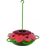 Natures Way Bird Products - So Real Mini 3D Flower Hummingbird Feeder - Red - 10 oz