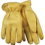 Kinco International-Lined Grain Deerskin Glove-Tan-Extra Large