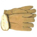 Boss Manufacturing -Therm Insulated Split Deerskin Driver Glove-Yellow-Large