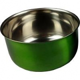 A&E Cage Company - Stainless Steel Coop Cup With Bolt Hanger - Green - 10 oz