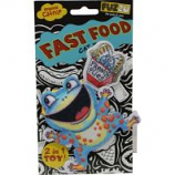 Fuzzu - Frog & French Flies Fast Food Catnip Cat Toy - Blue - Small