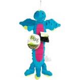 Quaker Pet Group - Godog Dragon Skinny Durable Plush Dog Toy - Blue - Large