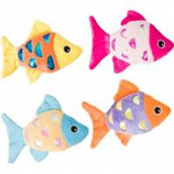 Ethical Cat - Shimmer Glimmer Fish W/Catnip Cat Toy - Assorted - 4.5In