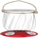 Classic Brands - Humming - Tulip Plastic Hummingbird Feeder - Red - 22 Oz