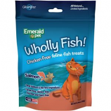 Emerald Pet Products - Wholly Fish Chicken - Free Cat Treats - Salmon - 3Oz