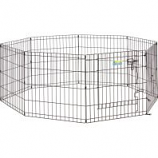 Midwest Container - Contour Exercise Pen With Door - Black - 24In