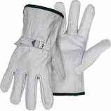 Boss Manufacturing -Quality Grade Grain Cowhide Leather Driver Glove-Gray-Extra Large