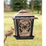 Audubon/Woodlink - Hopper Style Bird Feeder With Buttefly Design-Bronze-4 Pound Cap