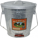 Audubon/Woodlink - Rustic Farmhouse Seed Storage Bucket With Scoop - Galvanized - 25  Lb
