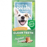 Tropiclean - Fresh Breath Clean Teeth Gel - Peanut Butter - 4 Oz