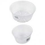 Bond Manufacturing - Deep Plastic Saucer-Clear-4 Inch