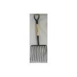 Truper Tools  - Tru Pro 10 Tine Ensilage Fork D-Grip Handle - Steel/Wood - 30 Inch