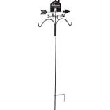 Panacea Products - Welcome House Weathervane Shepherd Hook - Rust - 78 Inch