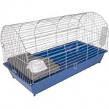 Ware Mfg- Bird/Sm An - Small Animal Round Roof Cage-Blue Silver-35 Inch