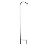 Hookery - Wrought Iron Crane Single Shepherd Hook - Black - 70 Inch