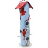Woodstream Wildbird - Cardinal Metal Tube Bird Feeder - Red