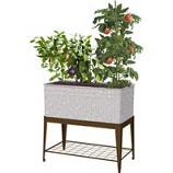 Panacea  - Galvanized Planter With Stand-Galvanized-40X22X38