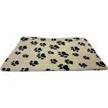 Ethical Fashion-Seasonal - Sleep Zone Thermo Pet Mat-Tan W/Pawprints-18 X14