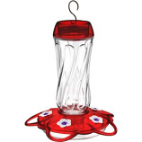 Classic Brands - Humming - Orion Glass Hummingbird Feeder - Red - 16Oz