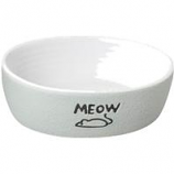 Ethical Stoneware Dish - Nantucket Meow Cat Stoneware Dish - Grey - 5In