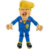 Fuzzu - Donald Presidential Parody Dog Toy - Blue - Medium