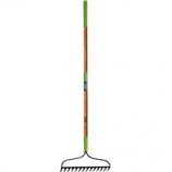 The Ames Company - 16 - Tine Welded Bow Rake With Ash Handle - Green - 63 Inch